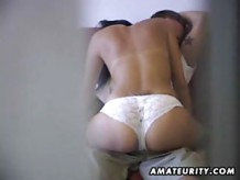 Amateur Couple Caught Fucking With Hidden Cam