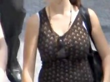 breasty in the street