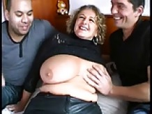 Busty mom gets fucked by 2 horny guys