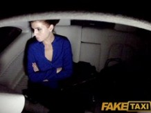 FakeTaxi: Kristine pays with her cum-hole when this babe can not afford the fare