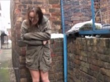 Amateur exhibitionist Beauvoirs public masturbation and outdoor flashing of brun