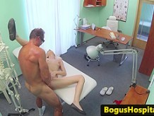 blowjob patient drenched with doctors spunk