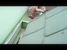 Spying my s ister masturbating in terrace