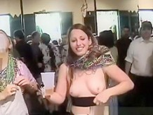 Crazy girls flashing their tits