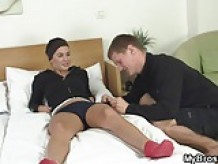 She lets big new cock fuck her