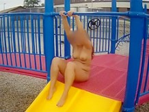 Beloved crazy wife on the playground