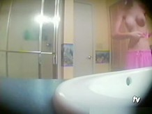 Hot tight body teen in shower