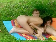 Enchanting piece of ass on a picnic fuck